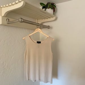 100% Silk Tan Tank Top